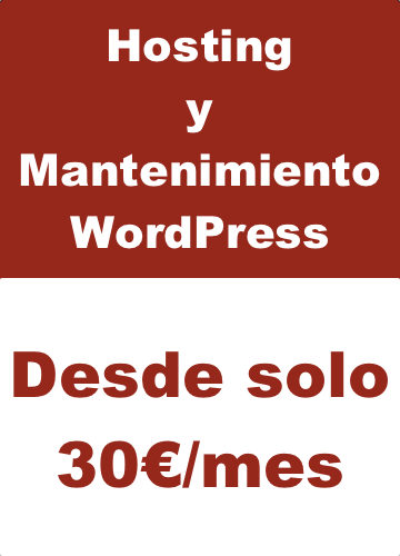 hosting y mantenimiento WordPress